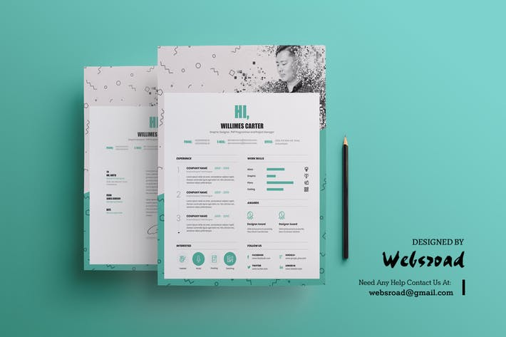 Cover Image For Creative Resume & CV Template