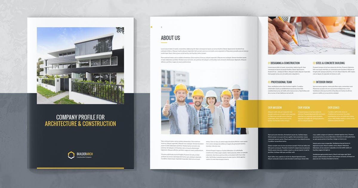 Builderarch Construction Company Profile By Artbart On Envato Elements