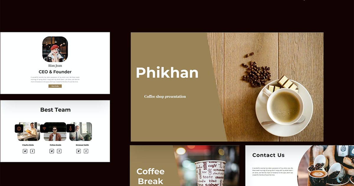 Download Phikhan - Coffee Shop PowerPoint Presentation by raseuki