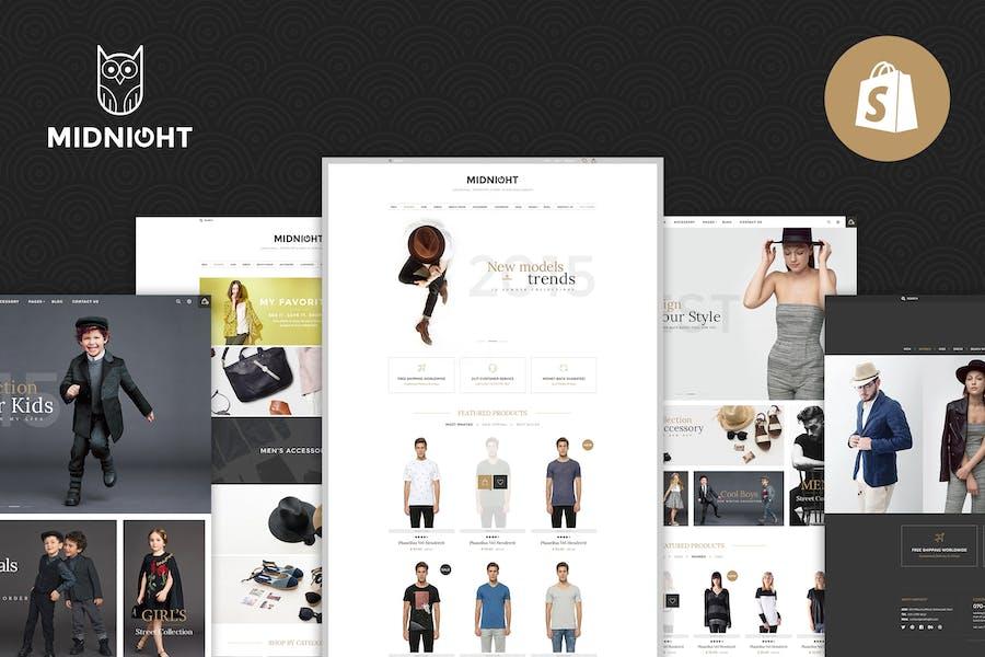 Midnight | Responsivo Shopify Tema