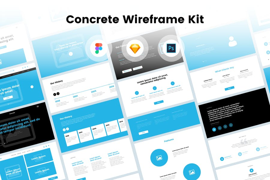 Concrete Wireframe Kit