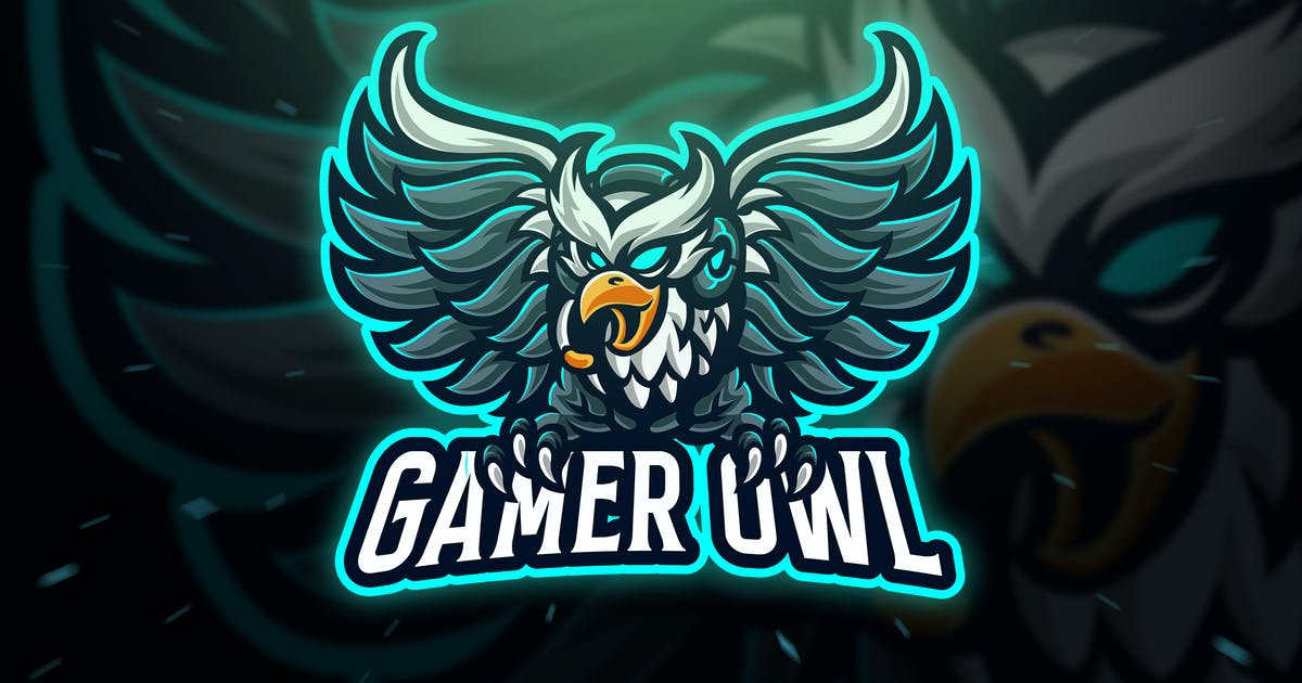 Download Gamer Owl Sport and Esport Logo Template by Blankids