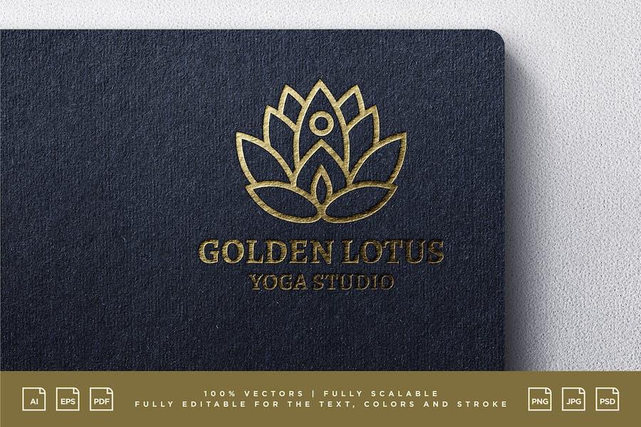 Logo Design - Golden Lotus Yoga Studio