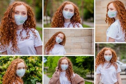 Cloth Facemask Mockups