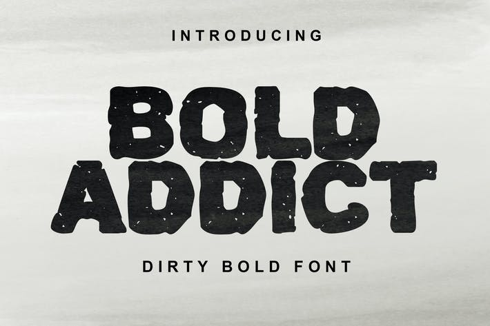 Thumbnail for Bold Addict Font