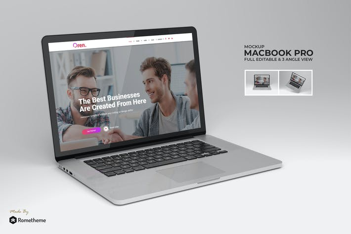 Thumbnail for Macbook Pro Laptop Mockup vol.01