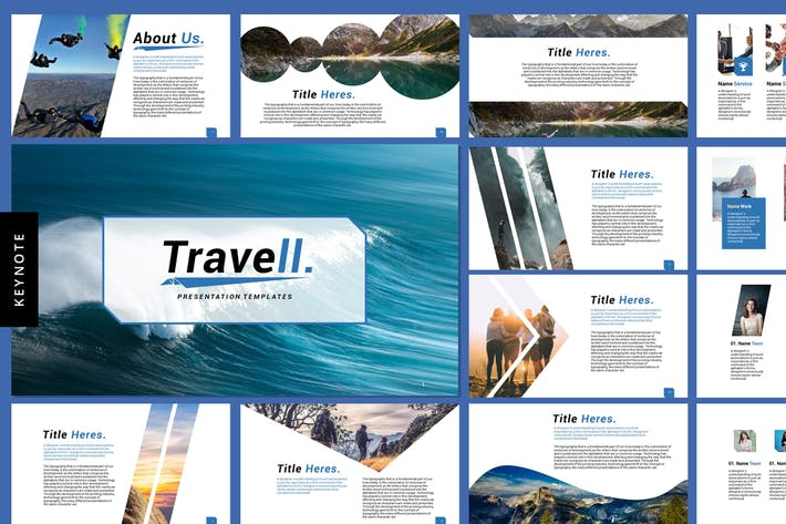 Thumbnail for Travell - Keynote Presentation Templates