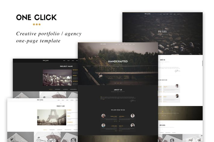 Thumbnail for One Click - Parallax One Page HTML Template