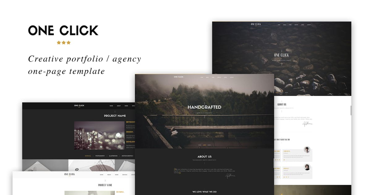 One Click Parallax One Page Html Template от Ig Design On