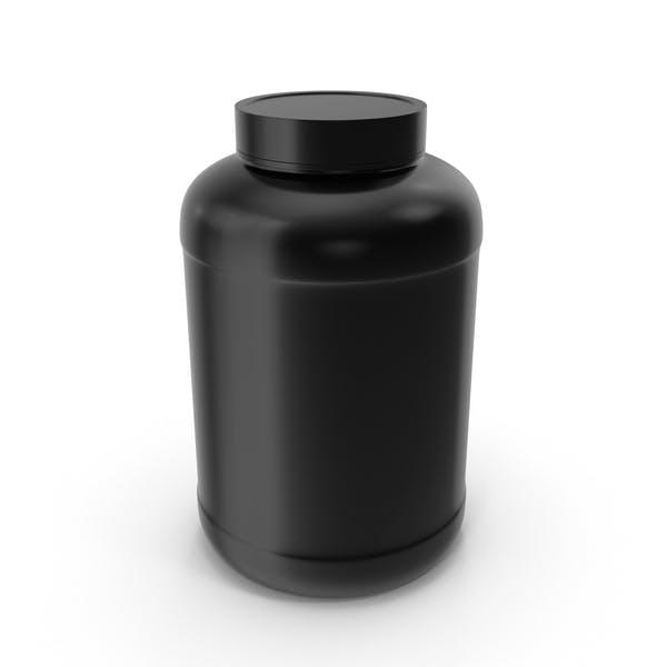 Botella de plástico de boca ancha galón negro