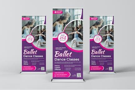 Ballet Classes Roll Up Banner Template