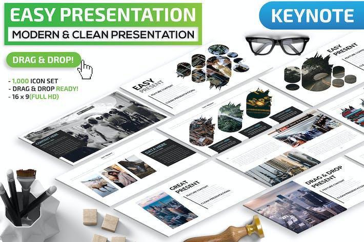 Thumbnail for Easy Keynote Presentation Template