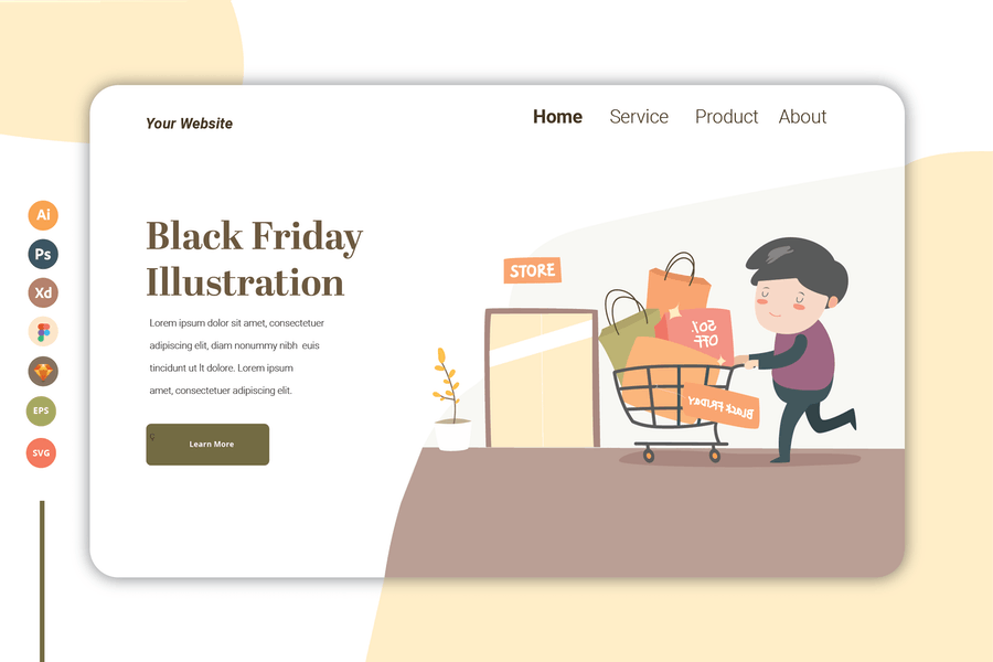 Black Friday - Landing Page Template