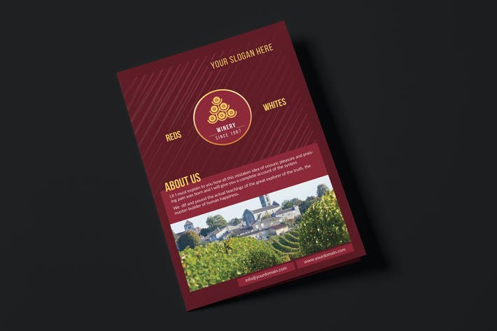 Thumbnail for Winery/ A5 Brochure Template