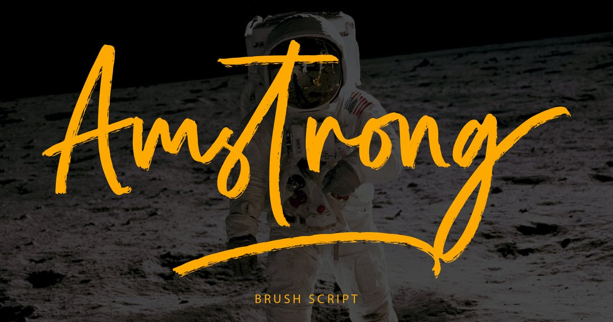 Download Amstrong Beautiful Brush Font by Formatika