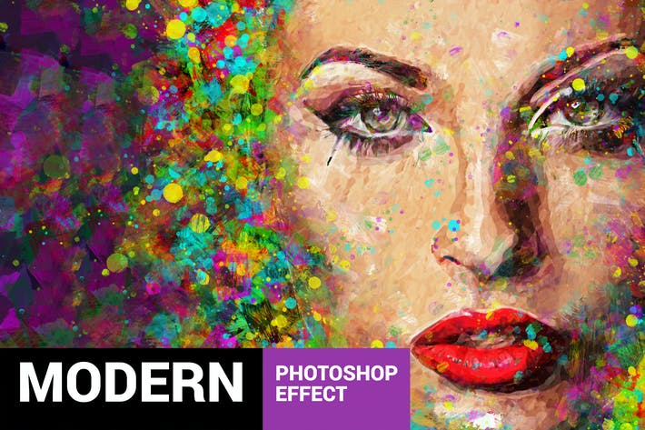 Thumbnail for Acrylum - Modern Art Photoshop Action