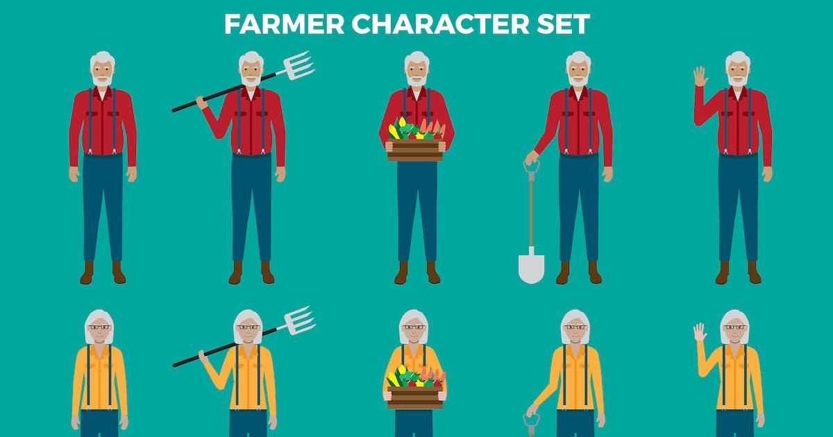 Download Farmer Character Set – Illustrations by designesto