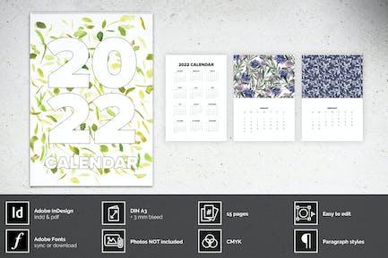 Wall Calendar A3 Layout