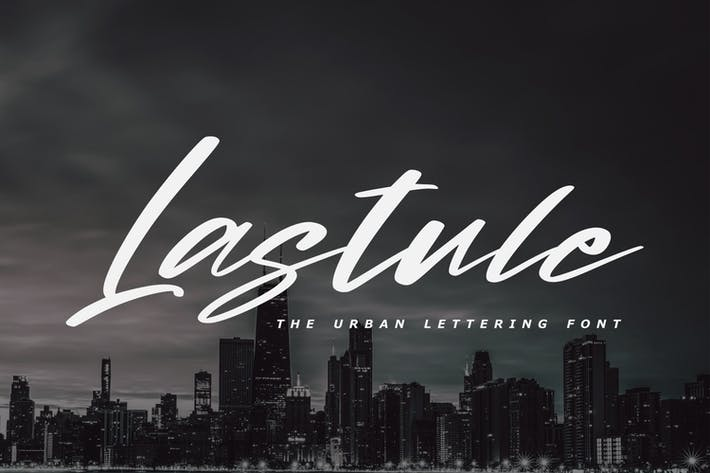 Thumbnail for Lastule - The Urban Lettering Font
