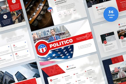 Political Election Campaign Keynote Template