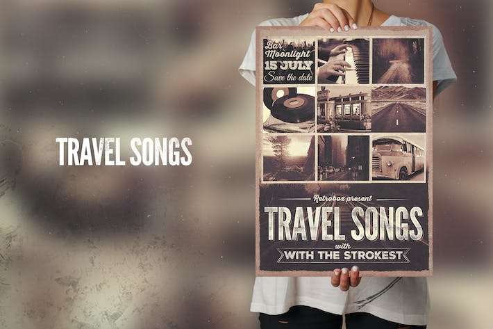 Thumbnail for Travel Songs Flyer Poster