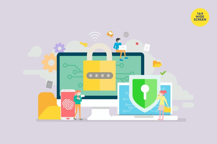 Cover Image For Data Security Vector Illustration Concept