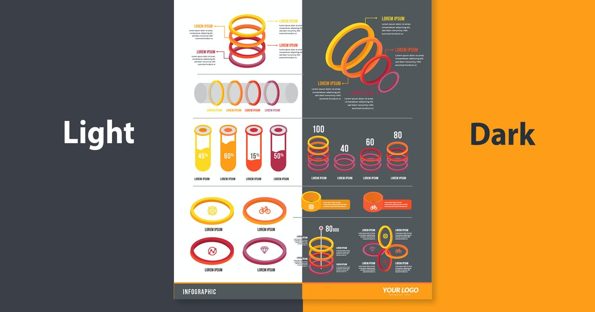 Download Infographic Template & Elements for Business V.13 by tokopress