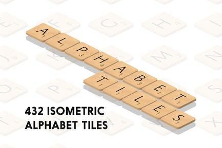 Isometrische Alphabet Fliesen