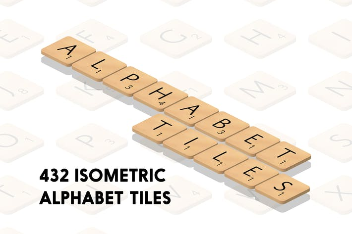 Cover Image For Isometric Alphabet Tiles