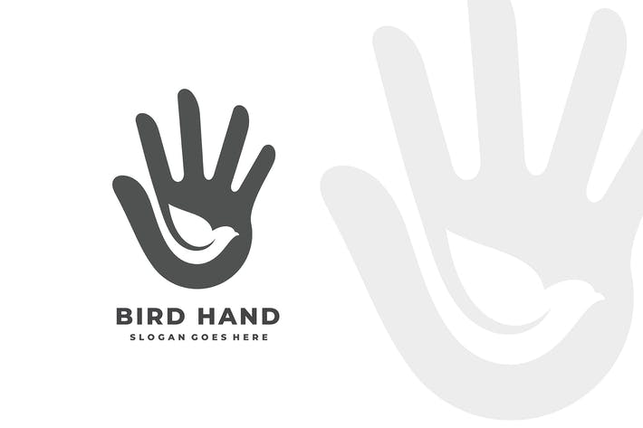 Thumbnail for Bird Peace Freedom Hand Social Charity Logo