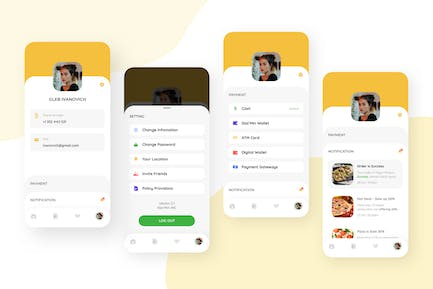 My Profile - Food Delivery Mobile UI Kit nft