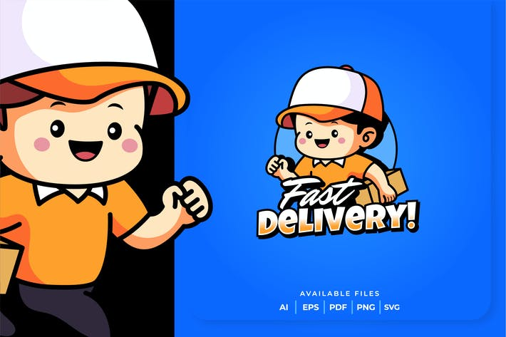 Thumbnail for Fast Delivery Mascot Logo