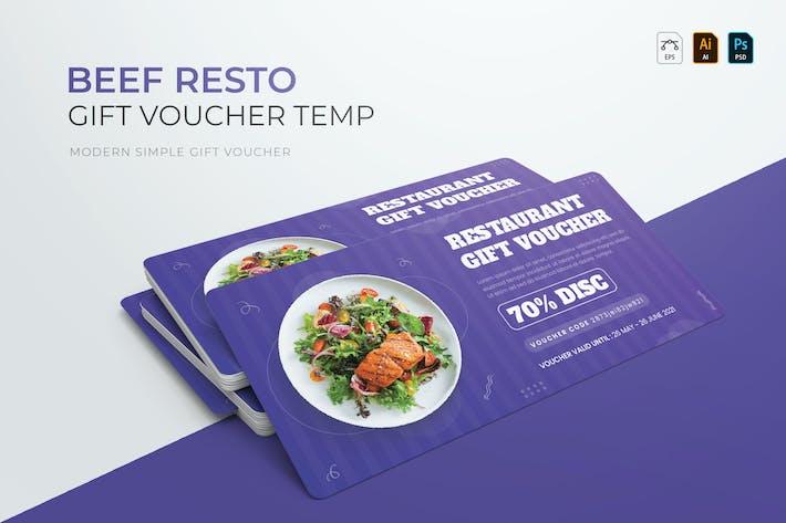Thumbnail for Beef Resto | Voucher Gift