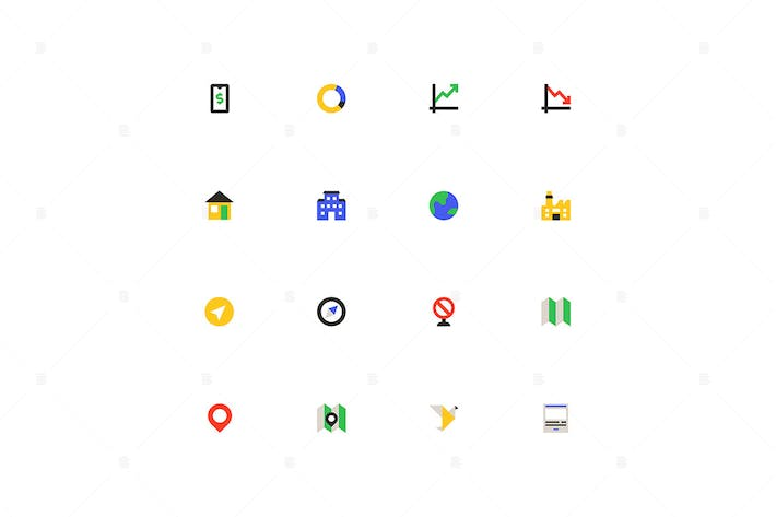 Thumbnail for Business and finance - material design icons