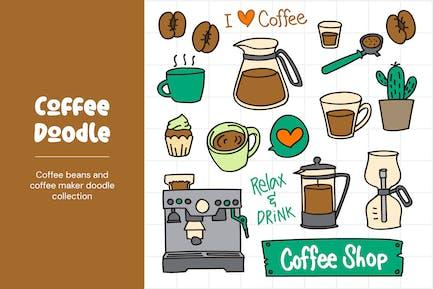 Garabatos para cafetera y café