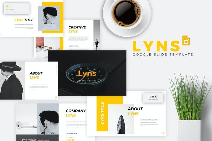 Thumbnail for LYNS - Creative Google Slides Template
