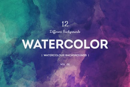 Watercolour Backgrounds  v01