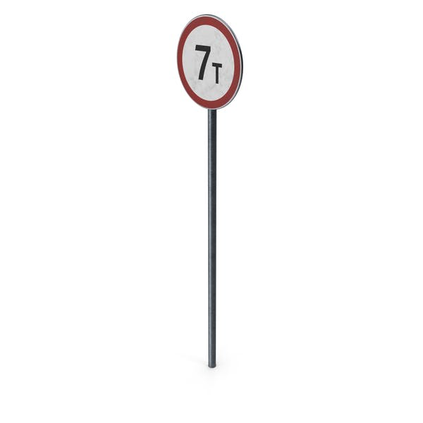 Traffic Sign Mass Limit With Pole
