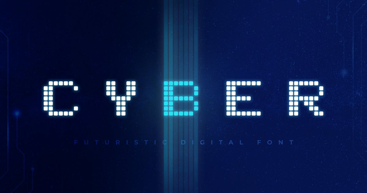 Download Cyber - Technology Font by andrewtimothy