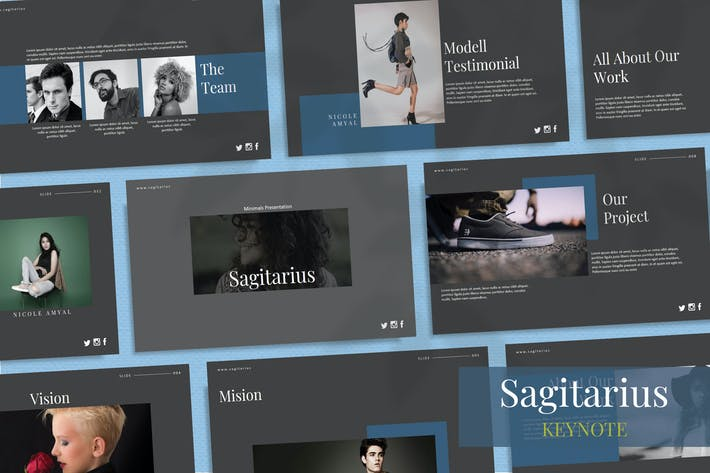 Thumbnail for SAGITARIUS - Шаблон ключевых заKeynote