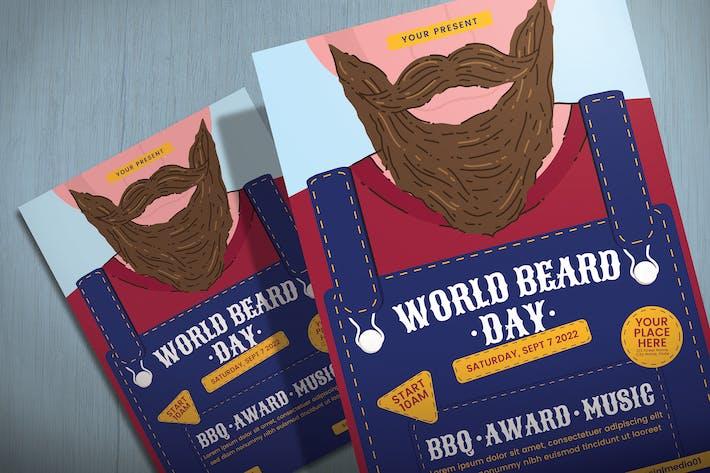 World Beard Day - Flyer Template