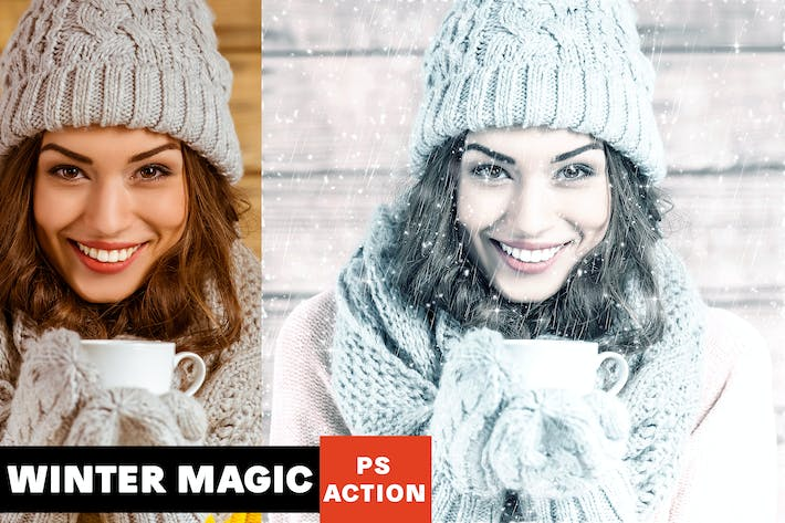 Thumbnail for Winter Magic Photoshop Action
