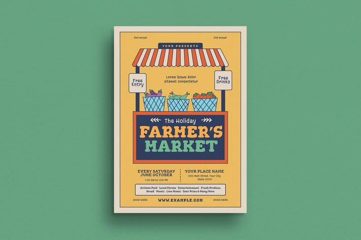 Thumbnail for Farmer's Market Event Flyer