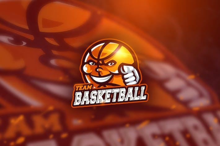 Thumbnail for Basketball Red - Mascot & Esport Logo