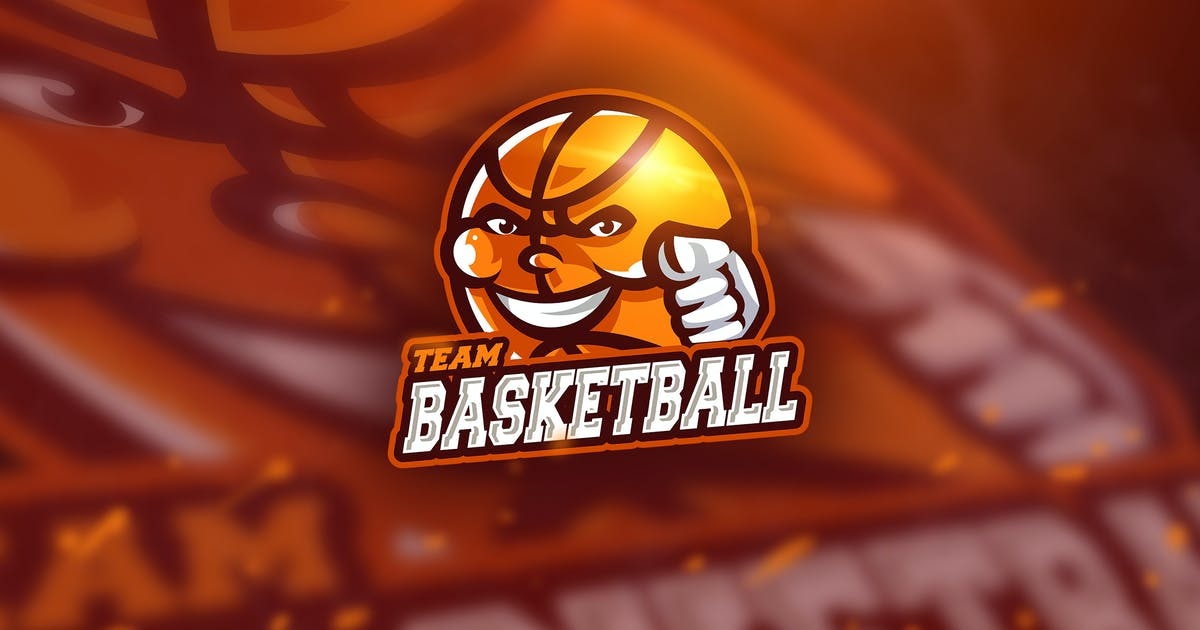 Download Basketball Red - Mascot & Esport Logo by aqrstudio