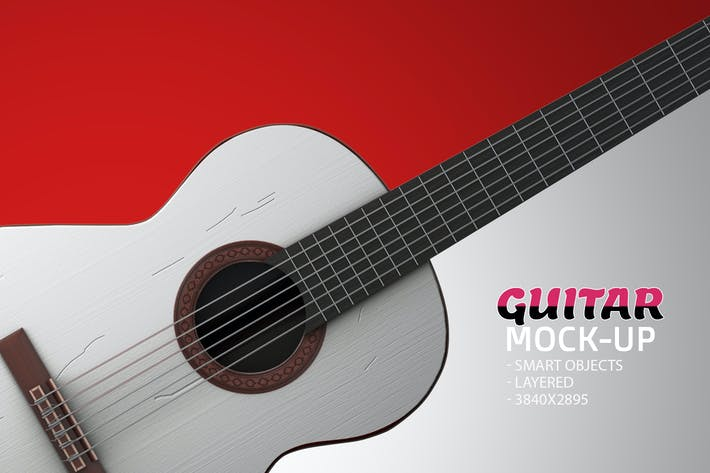 Thumbnail for Guitar Face PSD Mock-up