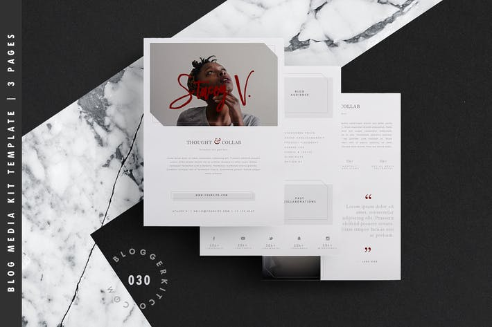 Blog Media Kit Template | A4 + US Letter