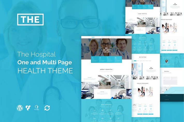 Thumbnail for The Hospital - One and Multi Page Health Theme