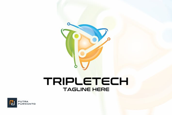 Thumbnail for Tripletech - Logo Template