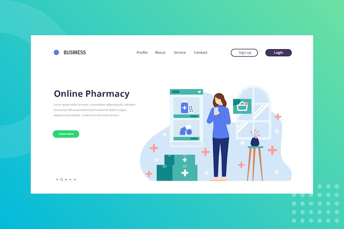Thumbnail for Online Pharmacy Landing Page